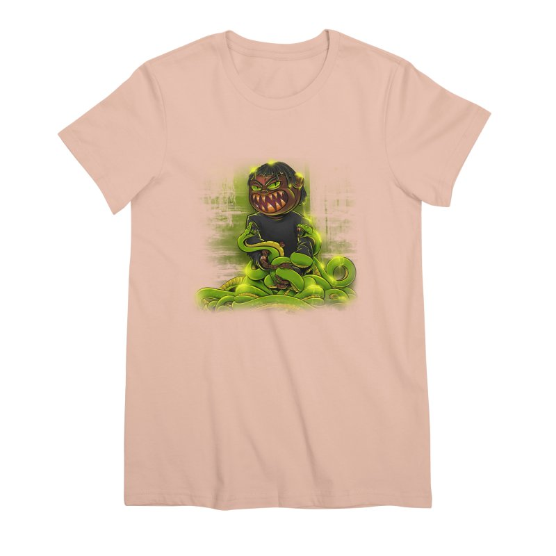 Toxic snakes Women's Premium T-Shirt by fishark's Artist Shop