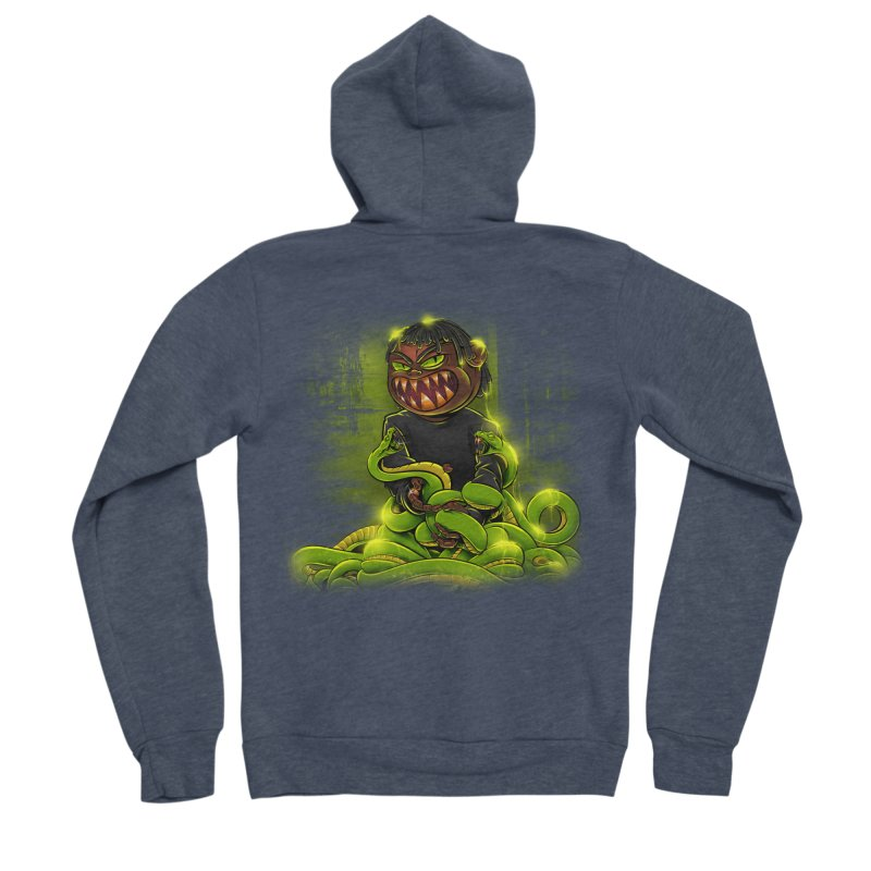 Toxic snakes Men's Sponge Fleece Zip-Up Hoody by fishark's Artist Shop