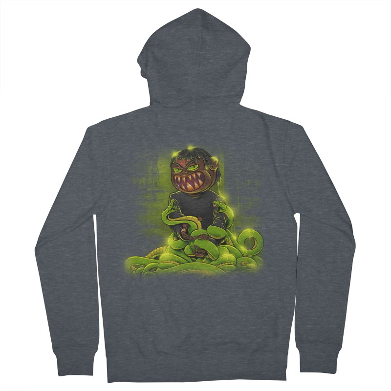 Toxic snakes Women's French Terry Zip-Up Hoody by fishark's Artist Shop