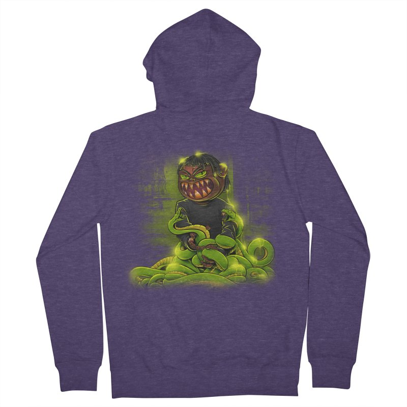 Toxic snakes Men's French Terry Zip-Up Hoody by fishark's Artist Shop