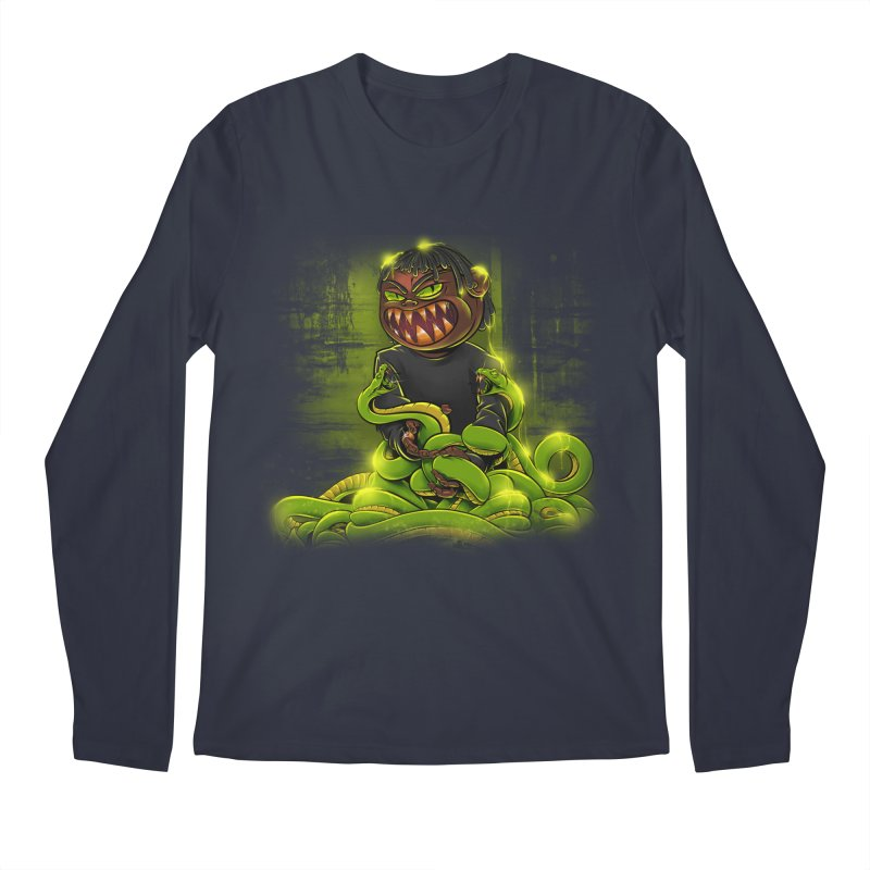 Toxic snakes Men's Regular Longsleeve T-Shirt by fishark's Artist Shop