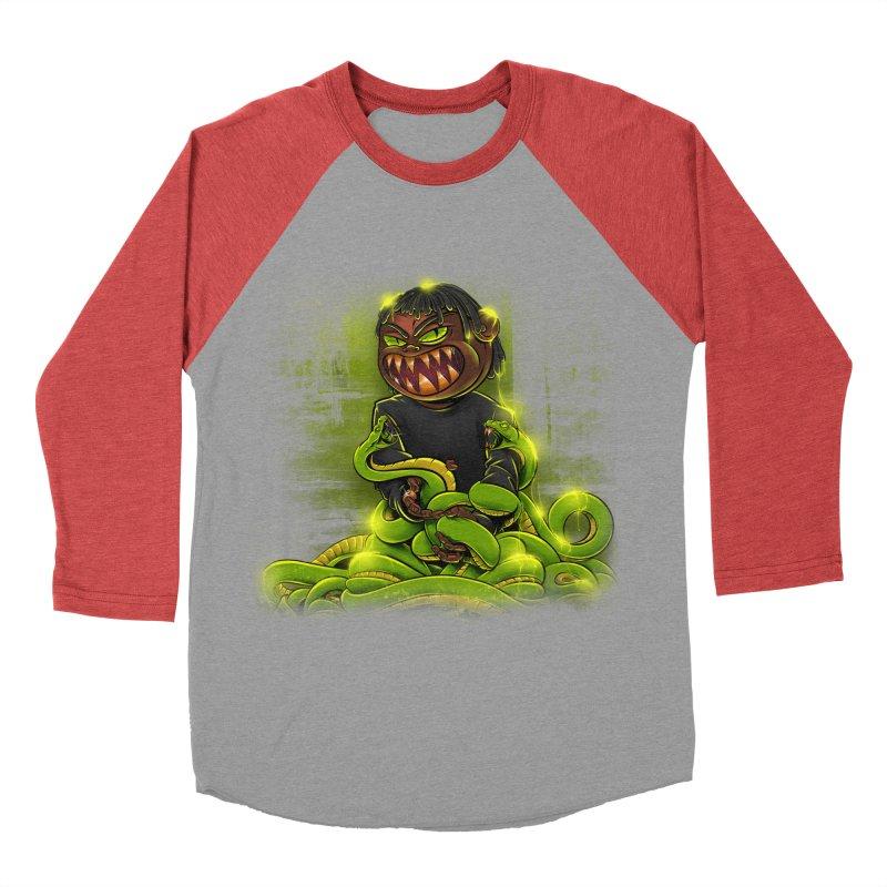 Toxic snakes Women's Baseball Triblend Longsleeve T-Shirt by fishark's Artist Shop
