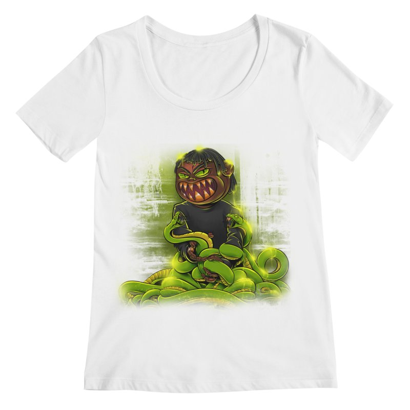 Toxic snakes Women's Regular Scoop Neck by fishark's Artist Shop
