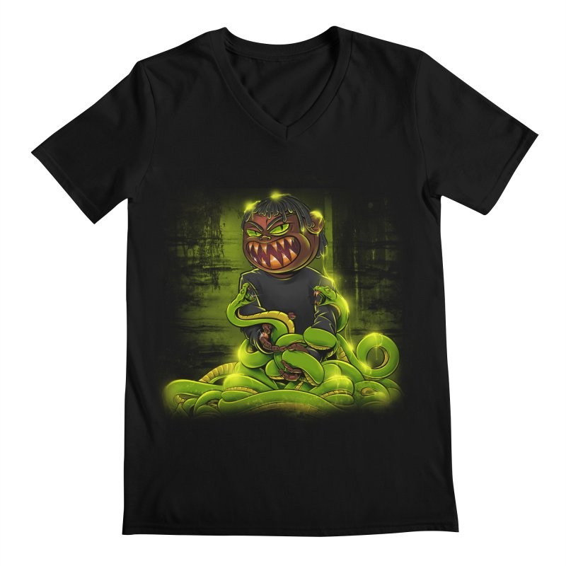 Toxic snakes Men's Regular V-Neck by fishark's Artist Shop