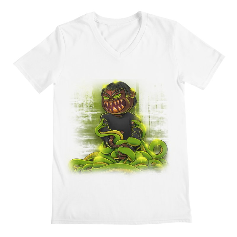 Toxic snakes Men's V-Neck by fishark's Artist Shop