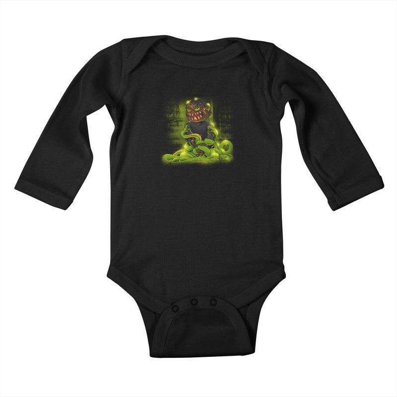 Toxic snakes Kids Baby Longsleeve Bodysuit by fishark's Artist Shop