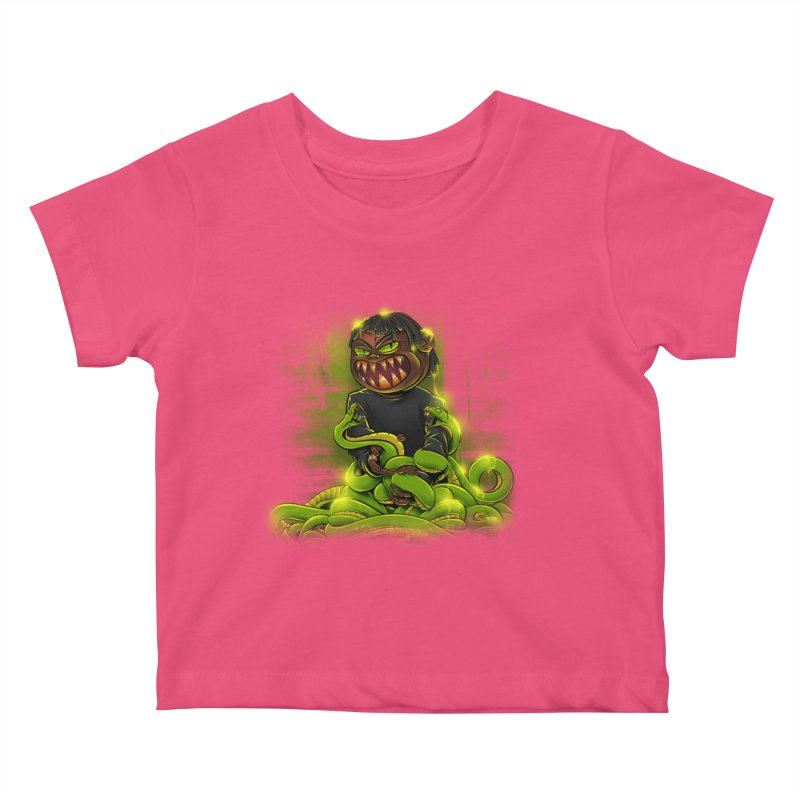 Toxic snakes Kids Baby T-Shirt by fishark's Artist Shop