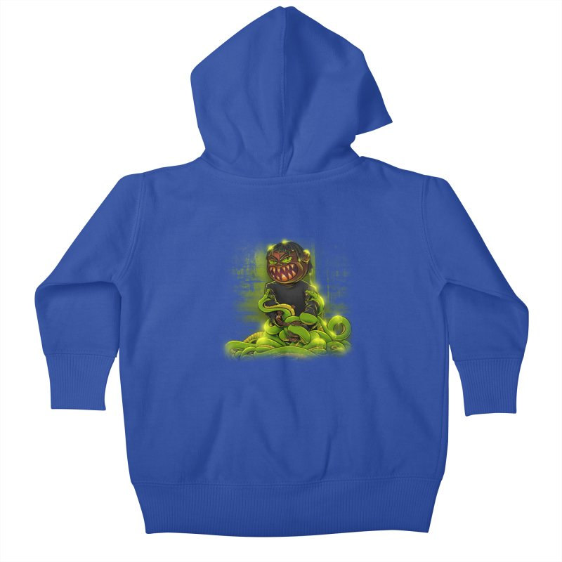 Toxic snakes Kids Baby Zip-Up Hoody by fishark's Artist Shop
