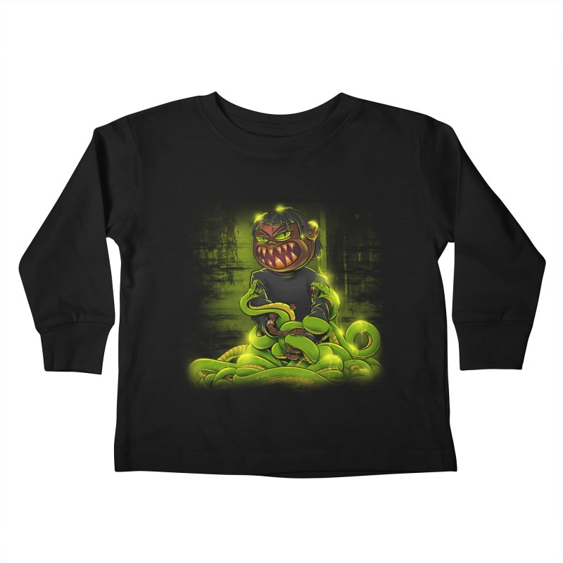 Toxic snakes Kids Toddler Longsleeve T-Shirt by fishark's Artist Shop