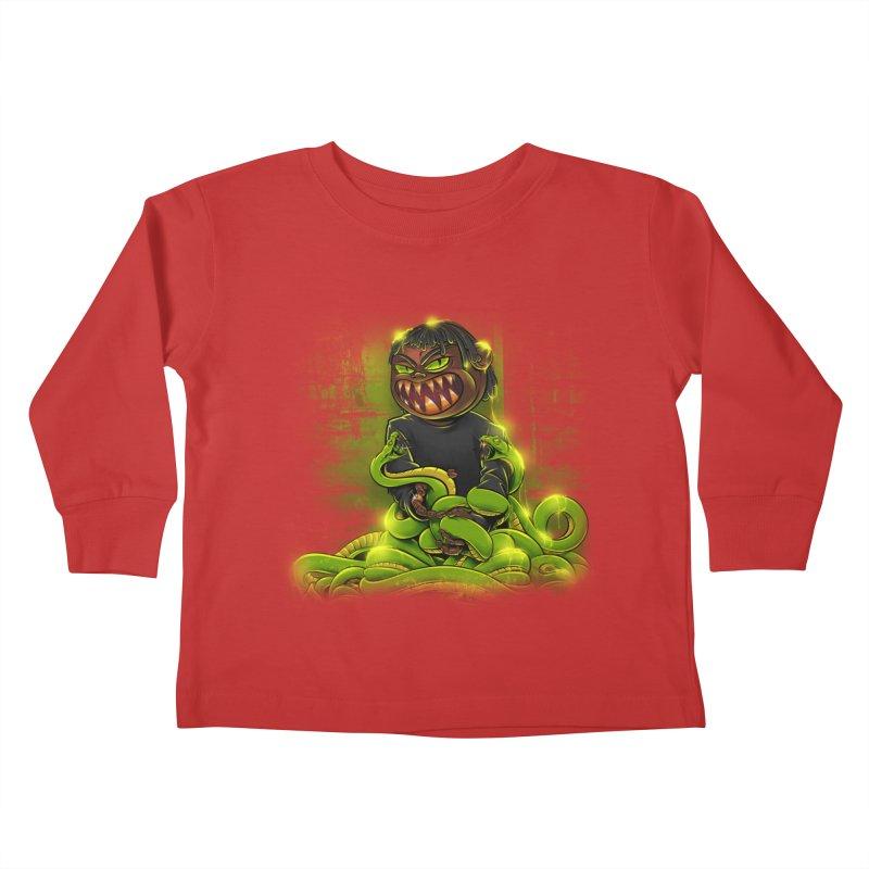 Toxic snakes Kids Toddler Longsleeve T-Shirt by fishark's Artist Shop