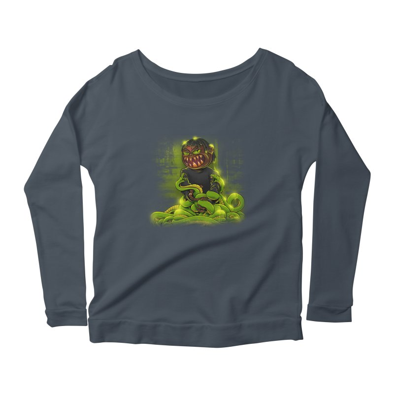 Toxic snakes Women's Scoop Neck Longsleeve T-Shirt by fishark's Artist Shop