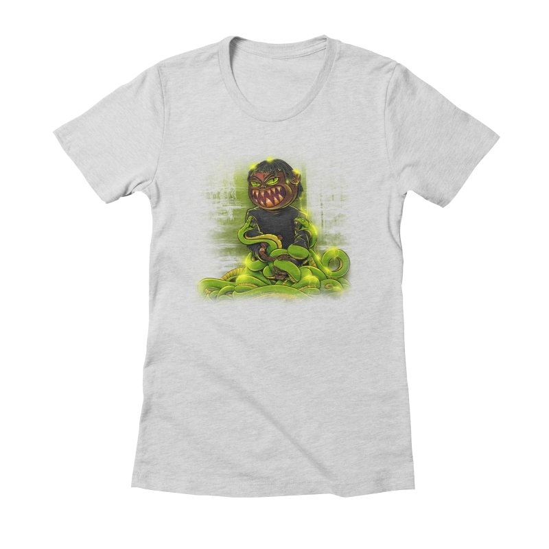 Toxic snakes Women's Fitted T-Shirt by fishark's Artist Shop