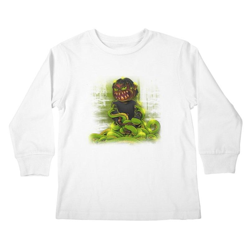 Toxic snakes Kids Longsleeve T-Shirt by fishark's Artist Shop