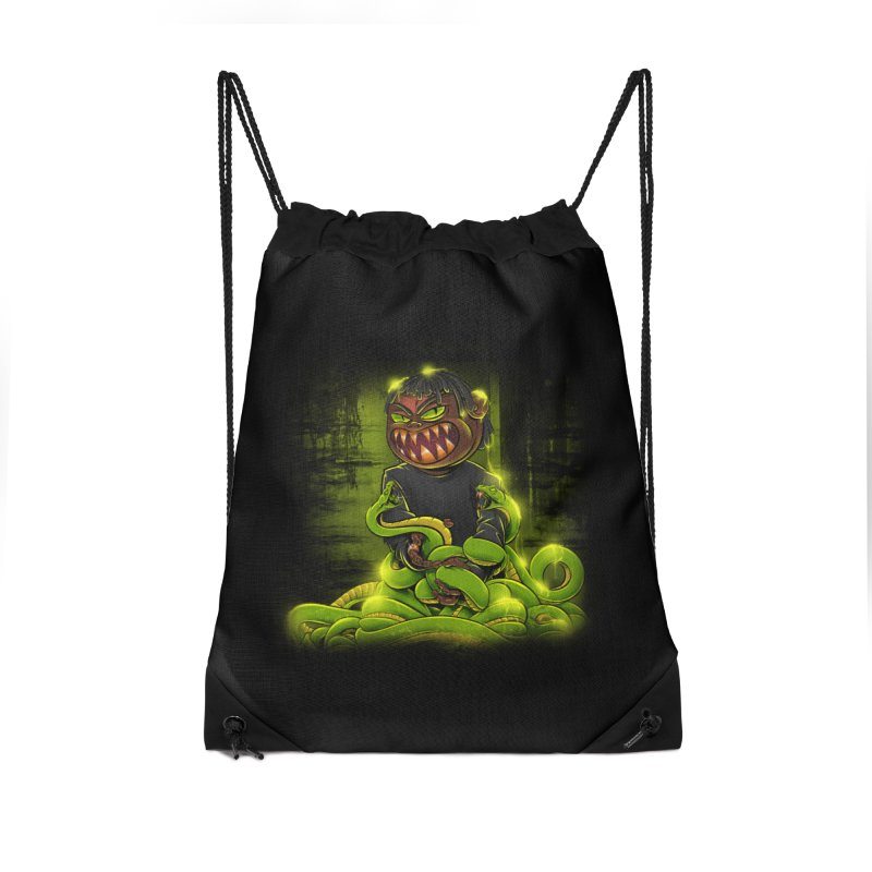 Toxic snakes Accessories Drawstring Bag Bag by fishark's Artist Shop