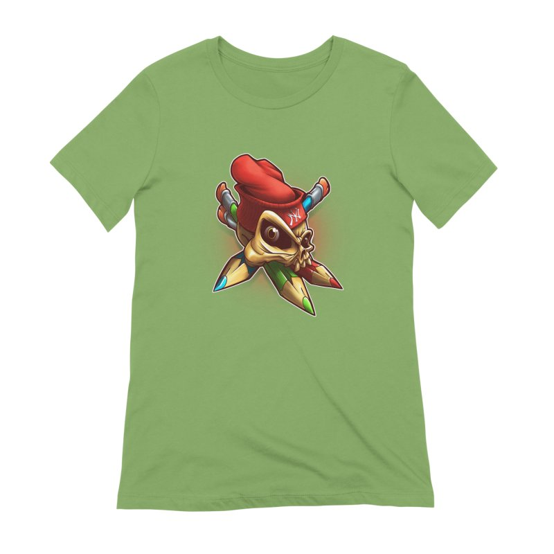 Skull Women's Extra Soft T-Shirt by fishark's Artist Shop