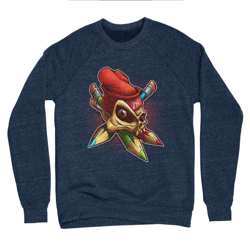 Skull Women's Sponge Fleece Sweatshirt by fishark's Artist Shop