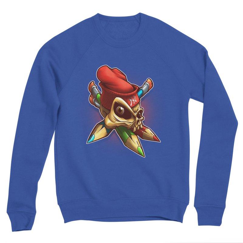 Skull Men's Sponge Fleece Sweatshirt by fishark's Artist Shop