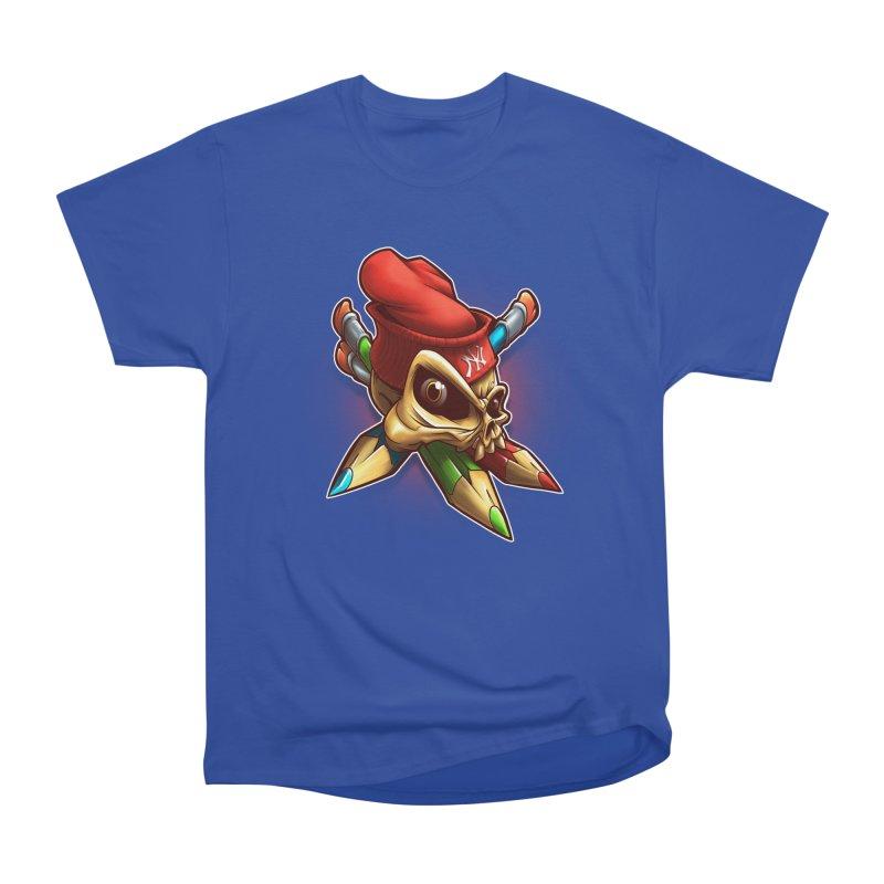 Skull Men's Heavyweight T-Shirt by fishark's Artist Shop