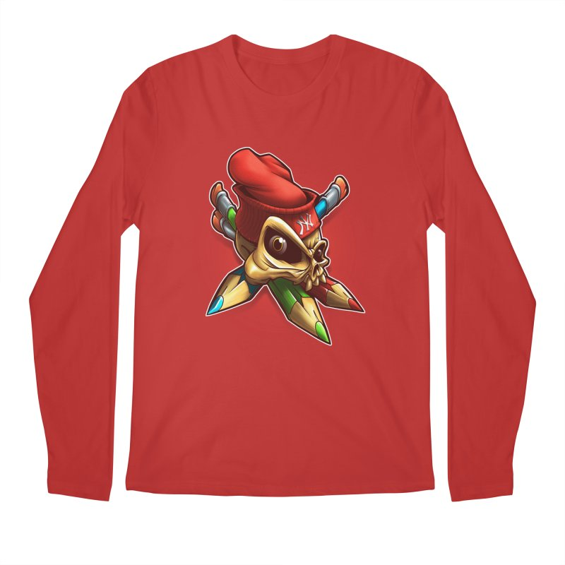 Skull Men's Regular Longsleeve T-Shirt by fishark's Artist Shop