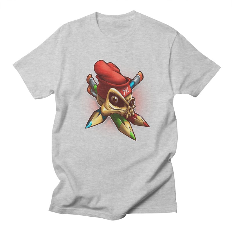 Skull Men's Regular T-Shirt by fishark's Artist Shop