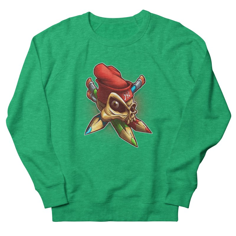 Skull Women's Sweatshirt by fishark's Artist Shop