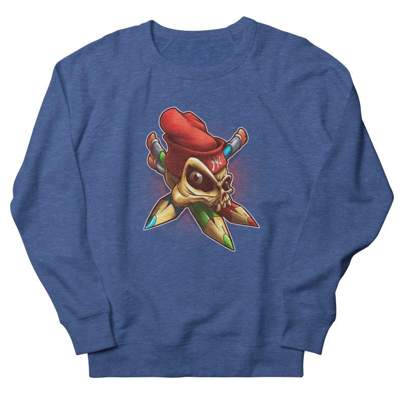 Skull Men's French Terry Sweatshirt by fishark's Artist Shop