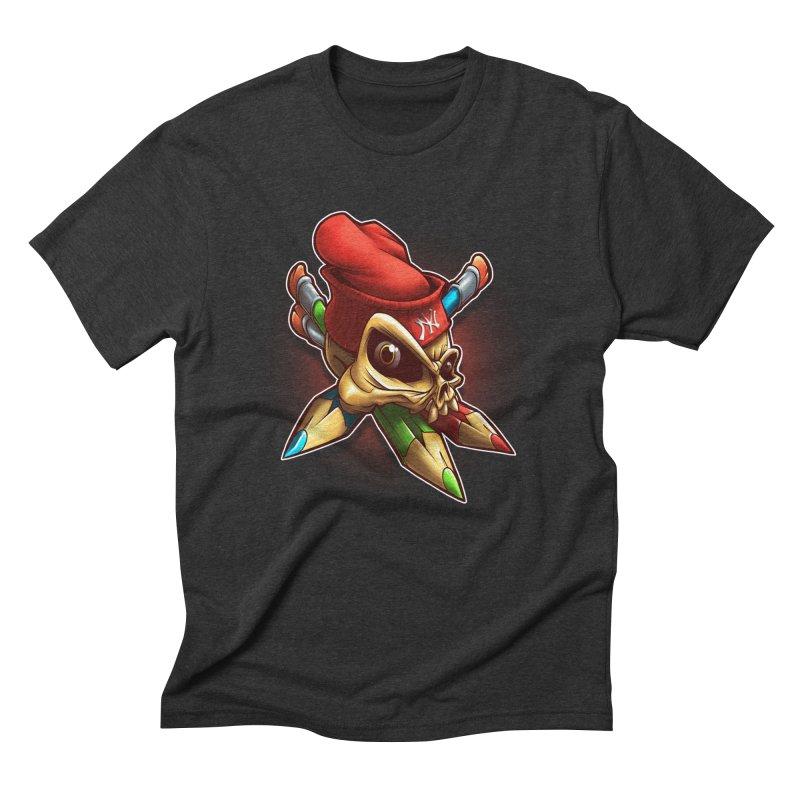 Skull Men's Triblend T-Shirt by fishark's Artist Shop
