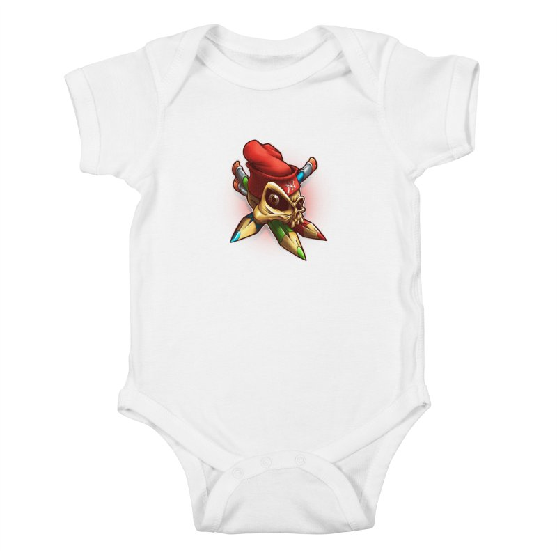 Skull Kids Baby Bodysuit by fishark's Artist Shop