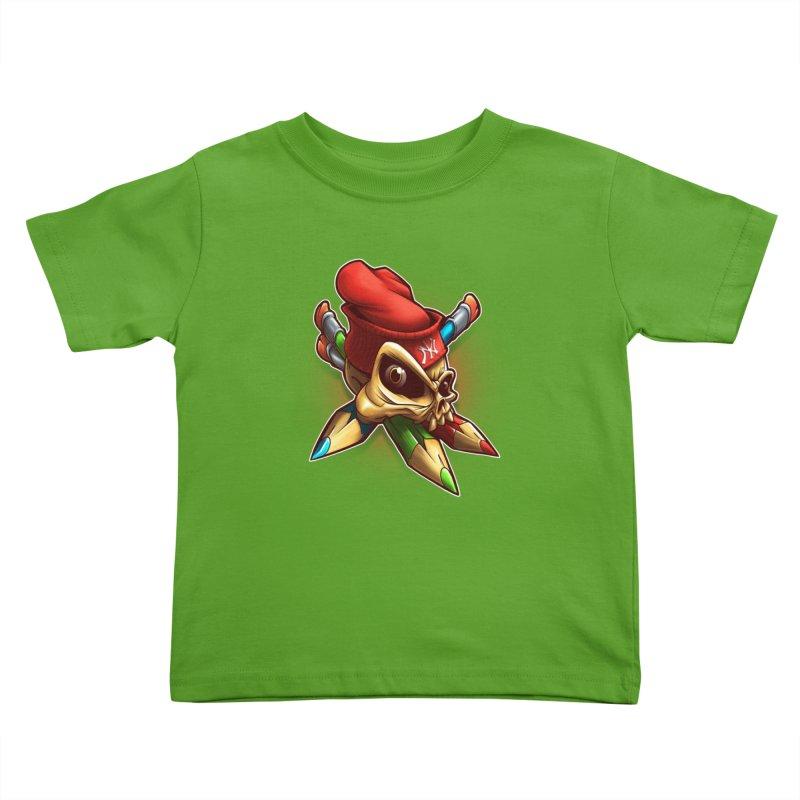 Skull Kids Toddler T-Shirt by fishark's Artist Shop