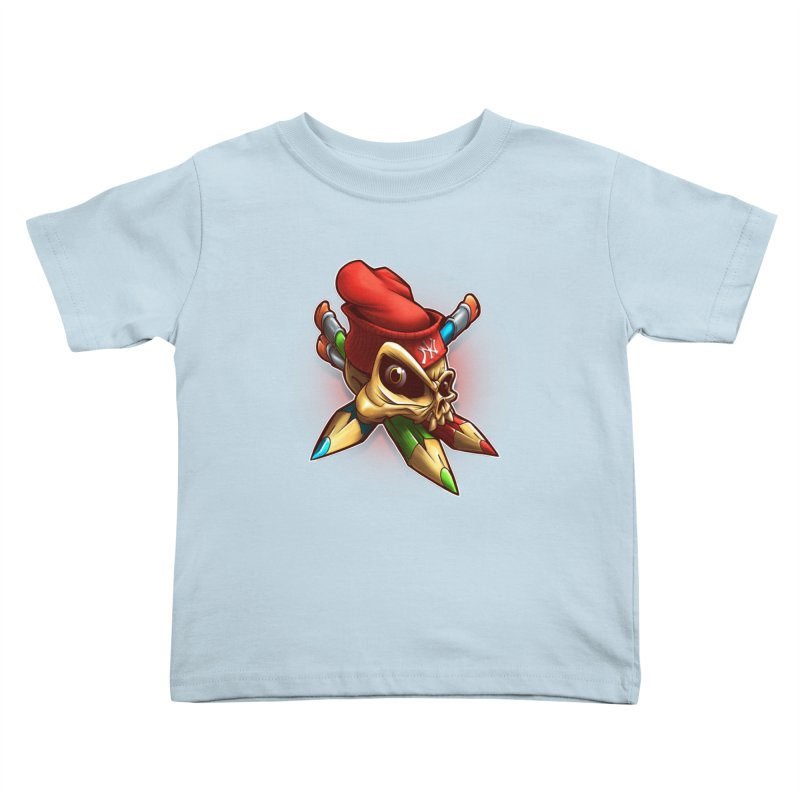 Skull Kids Toddler T-Shirt by fishark's Artist Shop