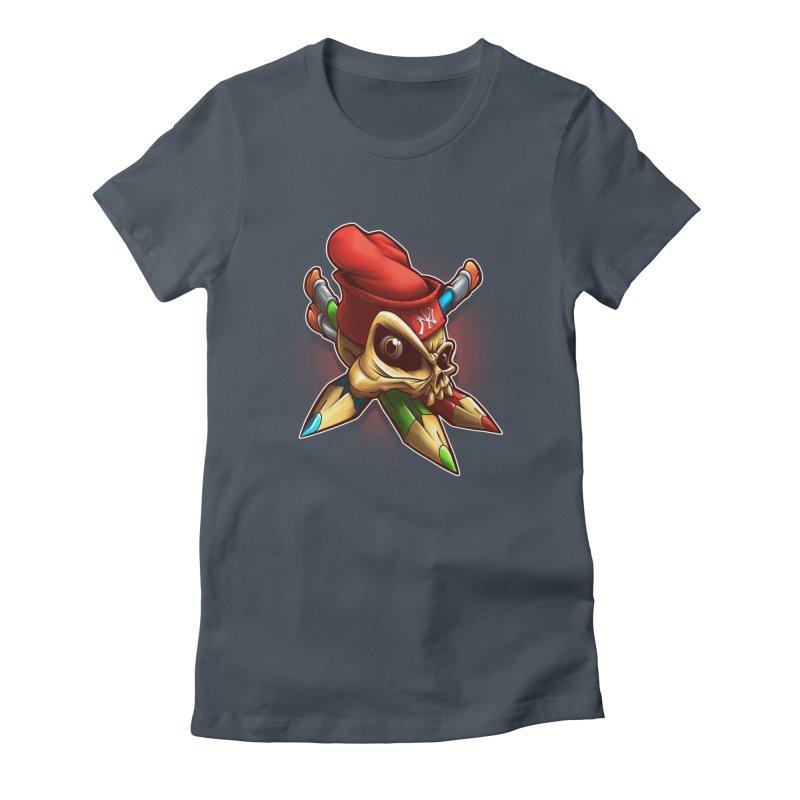 Skull Women's T-Shirt by fishark's Artist Shop