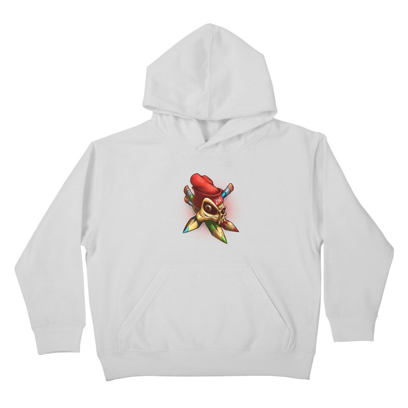 Skull Kids Pullover Hoody by fishark's Artist Shop