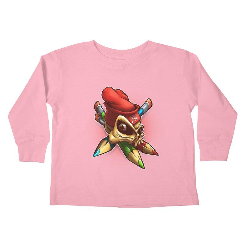 Skull Kids Toddler Longsleeve T-Shirt by fishark's Artist Shop