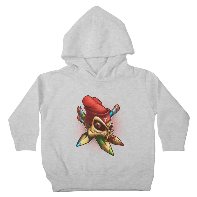 Skull Kids Toddler Pullover Hoody by fishark's Artist Shop