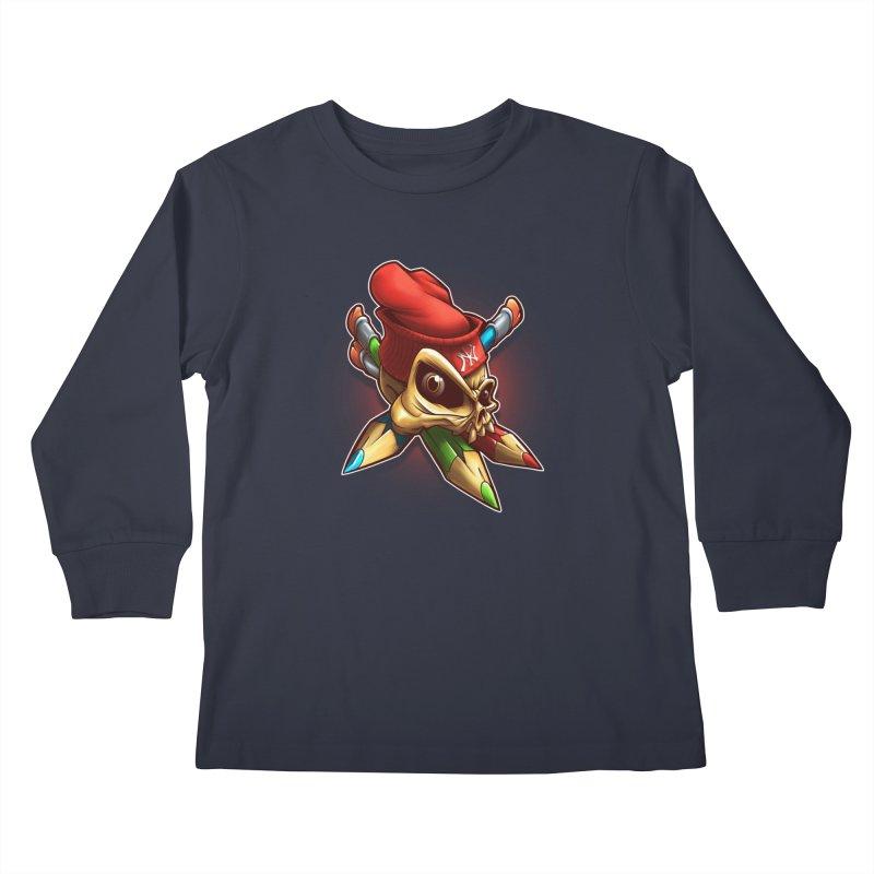 Skull Kids Longsleeve T-Shirt by fishark's Artist Shop