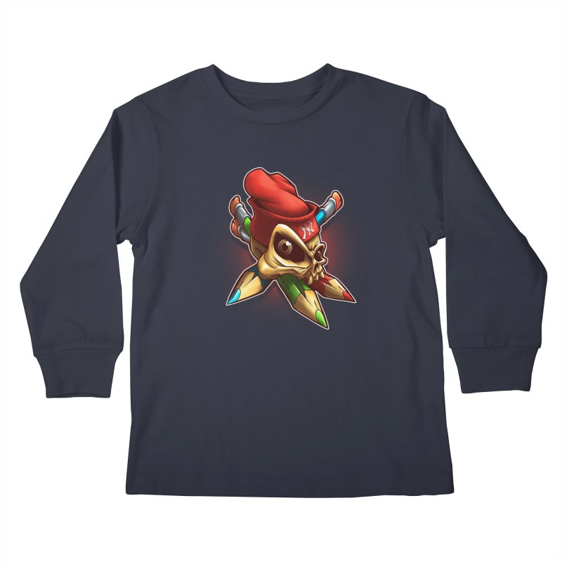 Skull Kids Longsleeve T-Shirt by fishark's Artist Shop