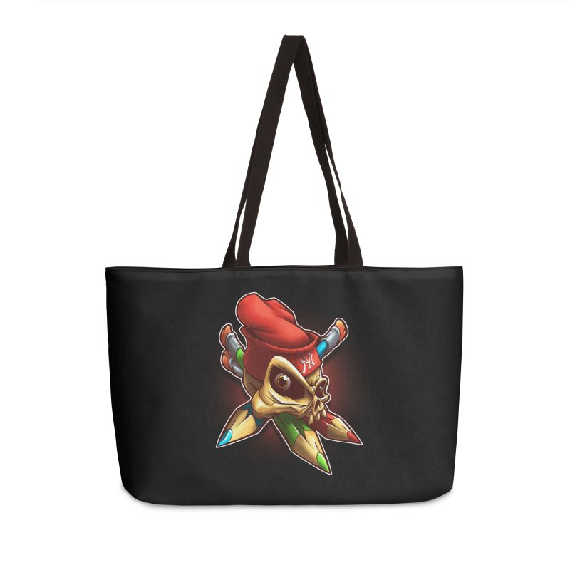 Skull Accessories Weekender Bag Bag by fishark's Artist Shop