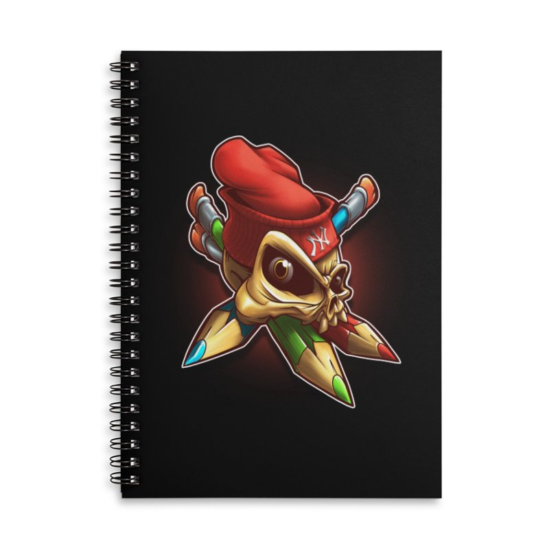 Skull Accessories Lined Spiral Notebook by fishark's Artist Shop