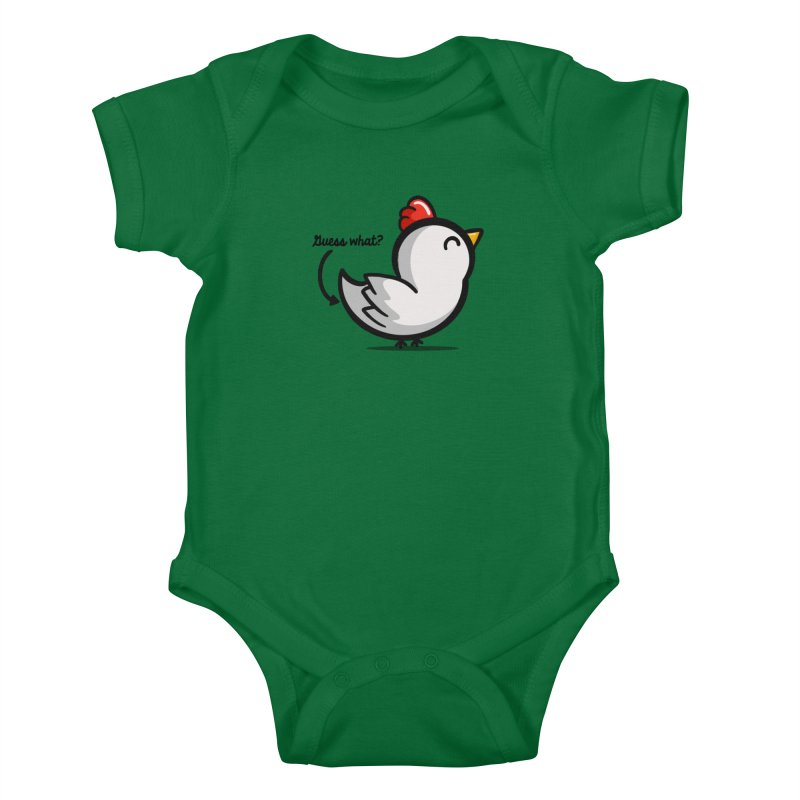 Guess What Chicken Butt Kids Baby Bodysuit by Fishbiscuit Designs