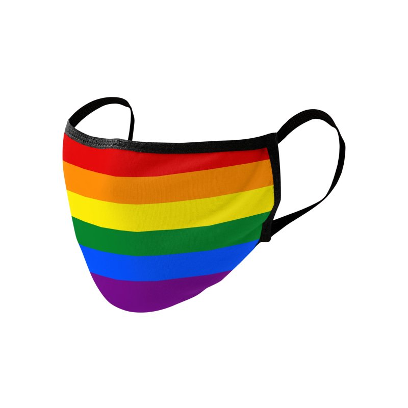 Rainbow Accessories Face Mask by Fishbiscuit Designs