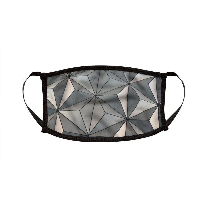 Spaceship Earth Accessories Face Mask by Fishbiscuit Designs