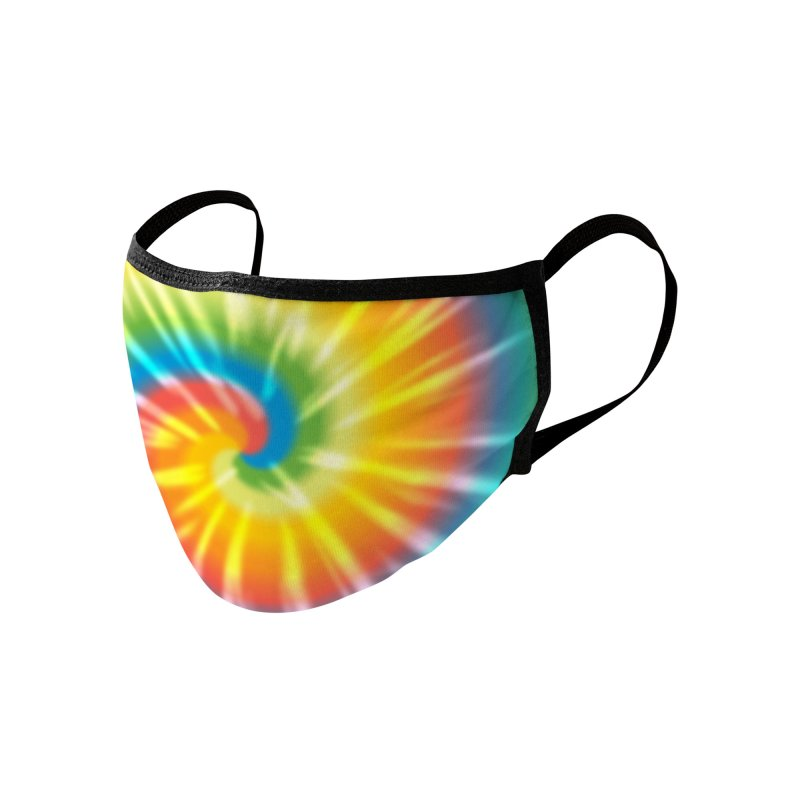 Tie Dye Accessories Face Mask by Fishbiscuit Designs