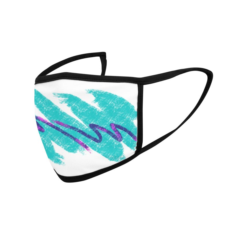 90s Jazz Accessories Face Mask by Fishbiscuit Designs