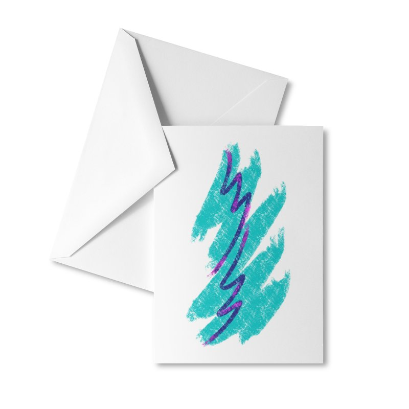 90s Jazz Accessories Greeting Card by Fishbiscuit Designs