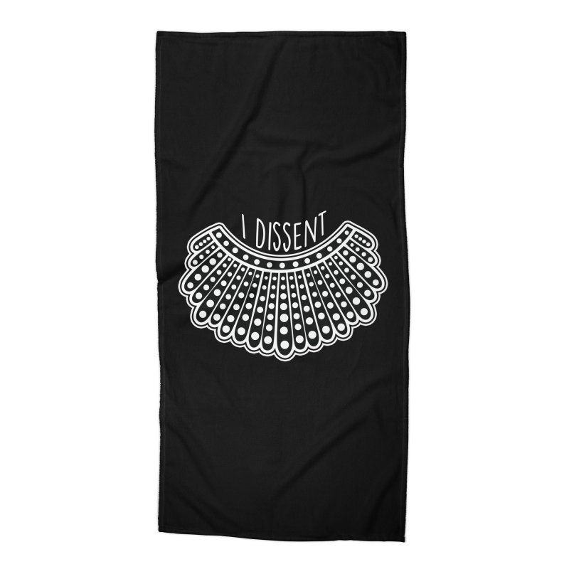 I Dissent Collar Accessories Beach Towel by Fishbiscuit Designs