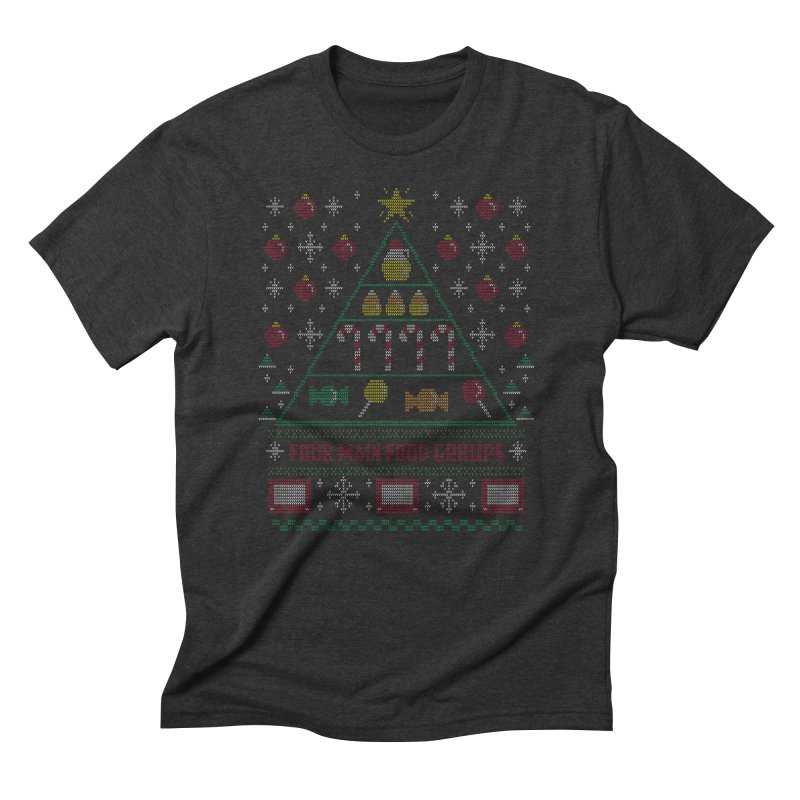 Elf Food Pyramid Men's Triblend T-shirt by fishbiscuit's Artist Shop