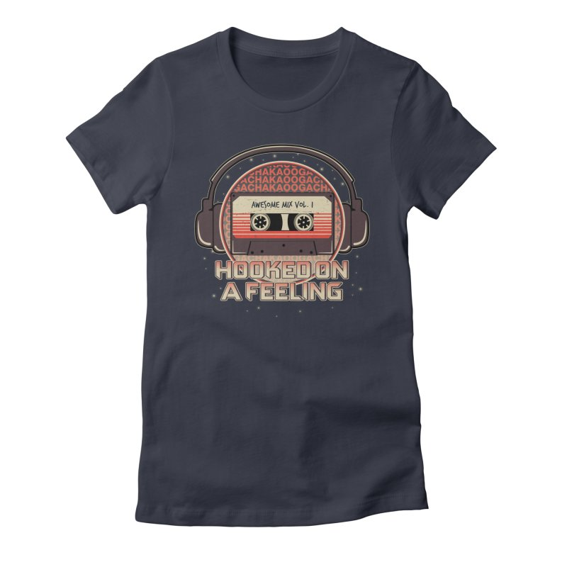 Galaxy Mix Women's Fitted T-Shirt by fishbiscuit's Artist Shop
