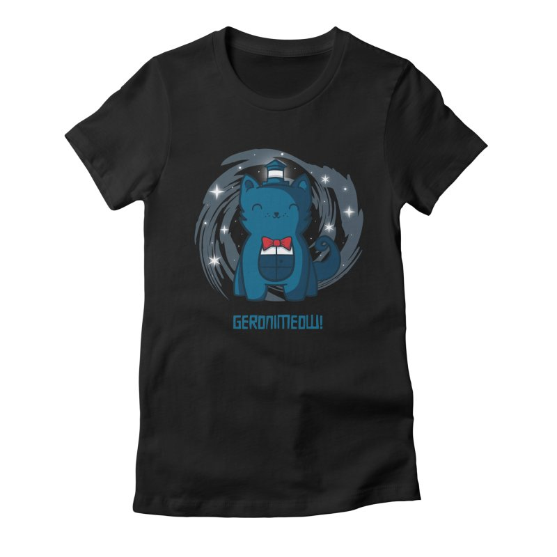Geronimeow Women's Fitted T-Shirt by fishbiscuit's Artist Shop
