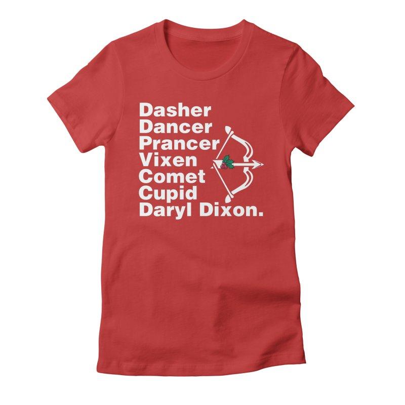 Santa's Helper Women's Fitted T-Shirt by fishbiscuit's Artist Shop
