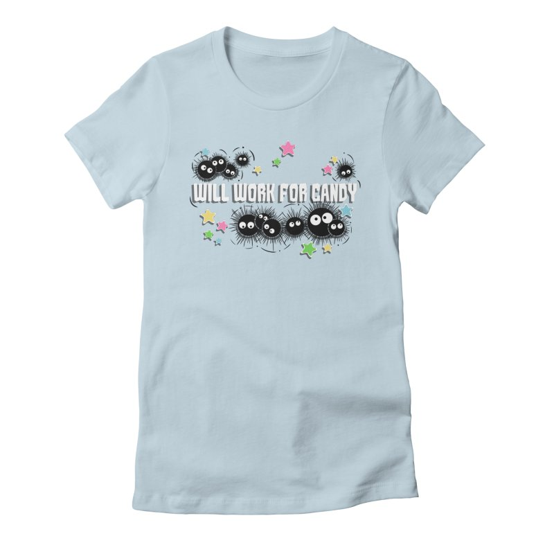 Spirited Soot Women's Fitted T-Shirt by fishbiscuit's Artist Shop